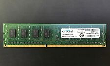 Crucial PC3-12800 4GB UDIMM 1600 MHz 240 Pin DDR3 SDRAM Memory - SELLER TESTED