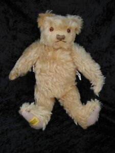VTG Merrythought Tan Jointed Mohair Bear Limited Edition #02329/2500 England