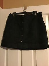 Gap Suede Effect Skirt, A Line 60s Style  Mimi Size 8  Black