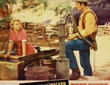 "FORT DOBBS - CLINT ""CHEYENNE"" WALKER, VIRGINIA MAYO  LOBBY CARD"