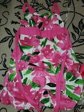 Girls My Michelle Coral & Pink Floral Sundress Dress with Tulle Hemline sz 12