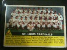 1956 TOPPS #134 ST LOUIS CARDINALS TEAM CHECKLIST BASEBALL CARD!!! STAN MUSIAL!!