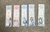 Alice In WonderLand Book Marks Pack Of 5 Vintage Style-Tea Party-Wedding-Favour