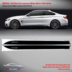 BMW M Performance Side Stripes decals Set for M4 F32 / F33 / F36