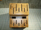 The Pampered Chef Knife Block Bamboo Wooden Large 16 Slot Knives Retired Empty