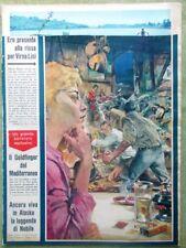 La Domenica del Corriere 29 Agosto 1965 Einstein Spazio Chopin Goldfinger Nobile