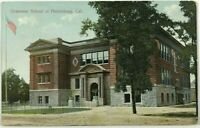 Grammar School At Healdsburg California CA Street View 1900's Vintage Postcard