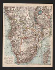 Landkarte map 1907: SÜD-AFRIKA. Madagaskar. Africa Kongo Angola Victoria See