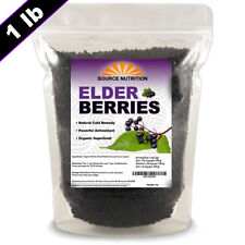 USDA Certified Organic Elderberries - Whole Berries, Cleaned & Sifted, Non GMO