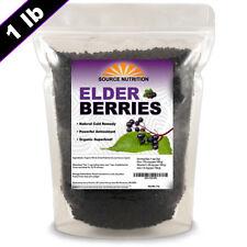 Dried Elderberries - 1 lb - Responsibly Wild Crafted, Whole European Elderberry,
