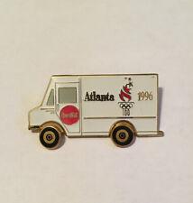 1996 Atlanta Olympic Coca-Cola Truck Moving Wheels Pin Badge
