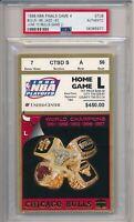 1998 NBA Finals Chicago Bulls vs Jazz GM 4 Ticket Stub PSA #5977 Jordan 34 pts