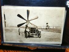 #7993,Very Unusual Vintage Auto w Propeller @1915,Real Photo,Phoenix Radio Co NY