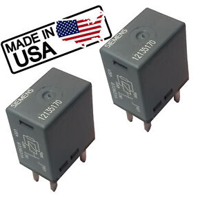 Two GM 12135170 Fuel Horn Fog Starter Headlamp 4-Pin Relay Many Functions