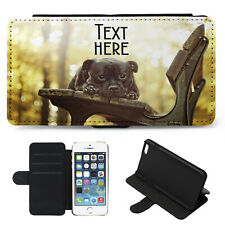 Personalised iPhone Case STAFFY DOG Cover Flip Wallet Phone Cute Gift Pet KS161