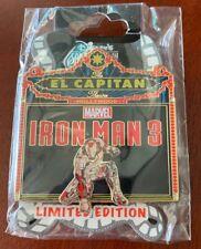 Disney Soda Fountain Pin Iron Man 3 El Capitan Marquee Dsf Dssh Gsf
