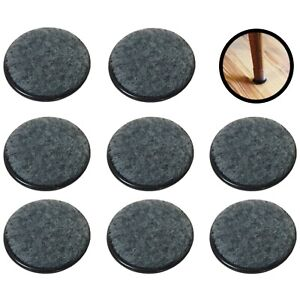 Grey Floor Furniture Protector Coasters Felt Backed for Chair Table