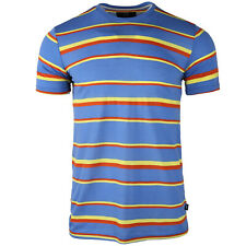 Men's Color Blocked Combo Lightweight Comfort Breathable Jersey Striped T-shirts