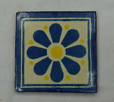 16 x Ceramic Mexican Wall Tile Hand Painted-Made Mexico Terracotta Tiles R19