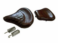 New Royal Enfield Classic 350CC 500CC Front & Rear Leather Seat Brown Color