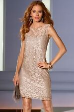 NWT $159 12 MUSE BOSTON PROPER Vintage All Over Brocade Lace Sheath Dress