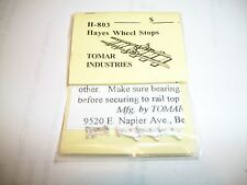 Tomar HO Scale Hayes Wheel Stops 4 pack Cast metal #803 Bob The Train Guy