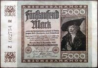 Germany banknote - 5000 mark - year 1922 - merchant Hans Imhof - free shipping