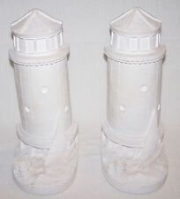 """LIGHTHOUSE BOOKENDS"" Sailboat Nautical Books Shelf Decor Plaster PL16 *NEW*"