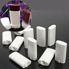 10Pcs 15ml Deodorant White Containers Empty Plastic Lip Balm Solid Perfume Tubes