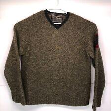 Abercrombie & Fitch M Wool Red Cross VTG Thick Sweater Warm Ski Swiss Men 90s
