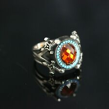 925 Sterling Silver Handmade Gemstone Turkish Ruby Men's  Ring Size 10