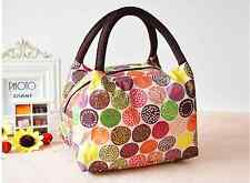 Bag multicolour Vanity bag Lunch Box small Hand ash Ladies Birds Striped