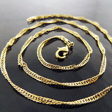 A6+A650 GENUINE REAL 18K YELLOW GF GOLD SOLID LADIES FINE PENDANT NECKLACE CHAIN