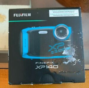 Fujifilm FinePix XP140 Waterproof Digital Camera w/case- Sky Blue - Brand New