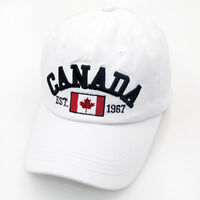 Canada Maple Leaf Flag Embroidered Adjustable Cotton Baseball Unisex Cap Hats