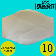 10 x Disposable Breathable Protection Filters For Use With Face Covering Hygiene