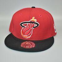 Miami Heat Mitchell & Ness NBA Hardwood Classics Fitted Cap Hat - Size: 7 5/8