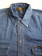 Lee Jeans delle faccende domestiche Camicia Uomo XL Extra Large blu a maniche lunghe vintage LSHZ 563 #