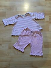 Girl's pink Mothercare tracksuit trouser & top set (0-3 months), pre-owned.