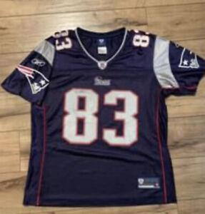 Wes Welker New England Patriots NFL Reebok On Field Women's Jersey Size M