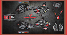 Suzuki DRZ400 DRZ 400  Supermotot SEMI CUSTOM GRAPHICS KIT STealth