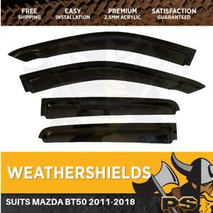 Superior Weathershields for Mazda BT-50 2011-2018 Window Visors Weather Shields