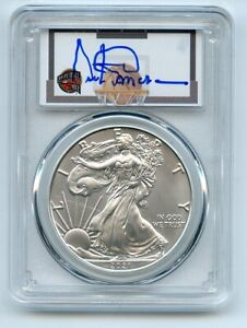 2021 (S) $1 Emergency Issue American Silver Eagle PCGS MS70 FDOI Artis Gilmore