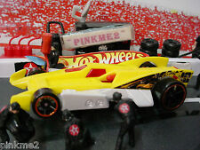 2014 Double Jump Duel Multi Design Rd-10✿Yellow/White; oh5✿Loose✿Hot Wheels Race
