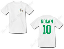 T-shirt Enfant Football Mexique personnalisé avec prénom et numéro au dos