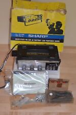 NOS Vintage Sharp FX-28a 1960s AM/FM 2 Band solid state REMOVABLE CAR Radio RARE