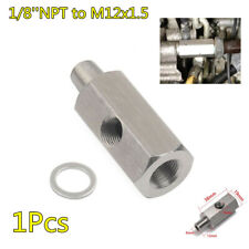 Car Oil Feed Pressure Sensor Tee 1/8''NPT To M12x1.5 Adapter Fitting Accessories