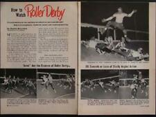 Roller Derby 1953 How to Watch Jolters Chiefs vintage pictorial