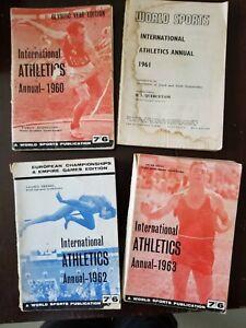 World Sports Publications International Athletes Annuals, 1960-1961-1962-1963