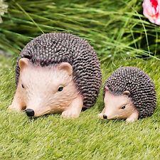 Resin Hedgehog Small & Large Garden Ornament Animal Sculpture Figurine Statue